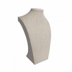 10 petits bustes pour collier en coton beige naturel 20cm - 9111x10