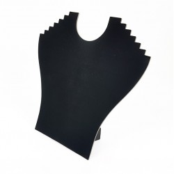 Lot de 10 porte colliers en velours noir 6 chaînes - 4654x10