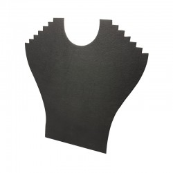 Lot de 10 porte colliers en simili cuir noir 6 chaînes - 9396x10