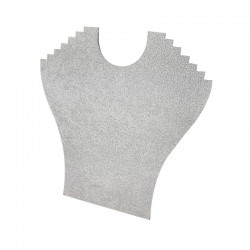Lot de 10 porte colliers en velours gris 6 chaînes - 9397x10