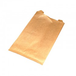 Lot de 100 grands sachets kraft brun 35gr 21+7x38cm - 9406