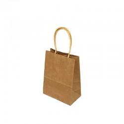 12 minis sacs cadeaux papier kraft brun naturel 11x6x15cm - 9413