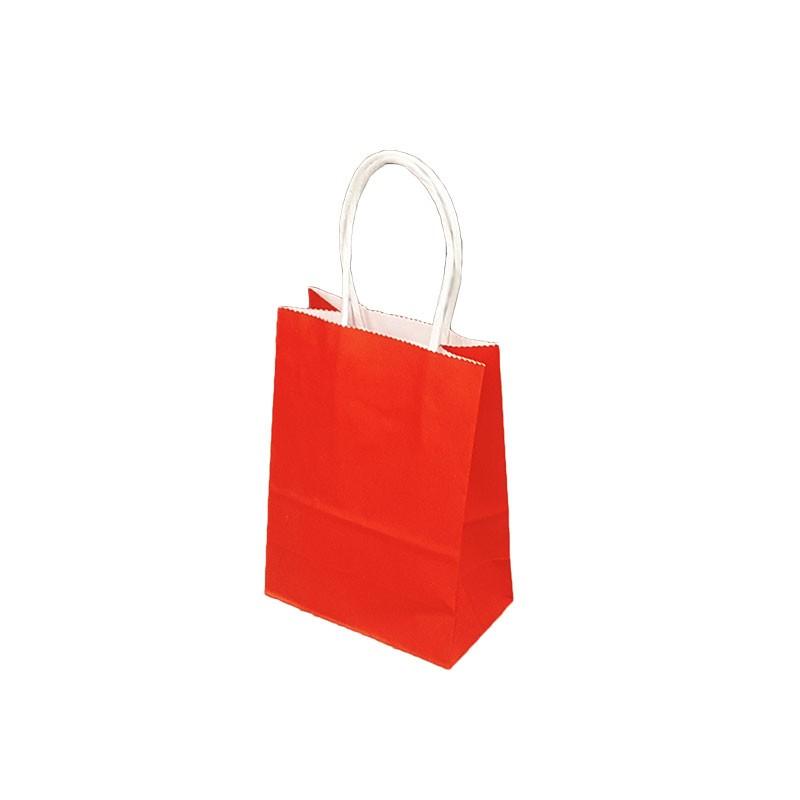 mini sacs kraft rouge