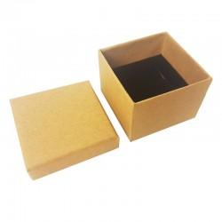 24 écrins pour bagues de couleur kraft naturel - 10080