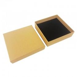 24 écrins à bijoux kraft naturel pour parures 8.5x8.5cm - 10083