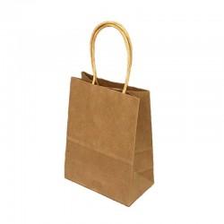 Lot de 12 sacs kraft uni couleur brun naturel 26x12x33cm - 9443