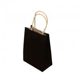 Lot de 12 sacs kraft uni couleur noire 26x12x33cm - 9445