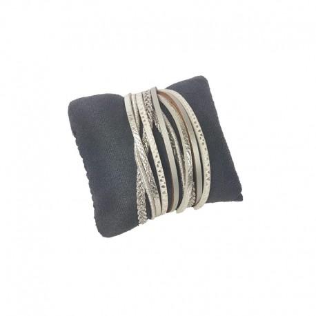 Petit coussin en suédine gris anthracite 9x7cm - 9468