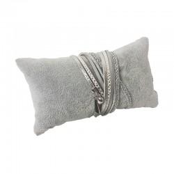 Coussin en velours gris 13x7cm - 9470