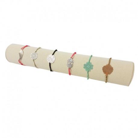 Présentoir jonc en coton beige naturel pour bracelets 30.5cm - 9486