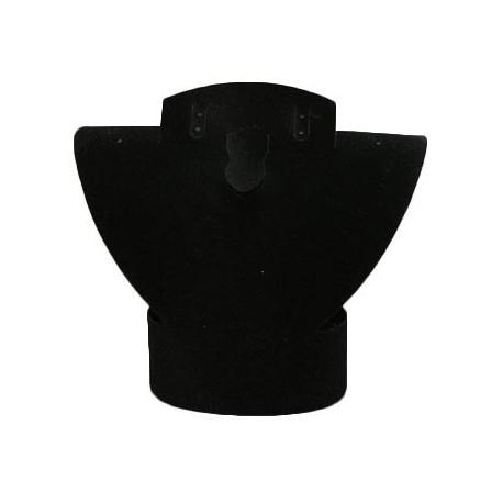 Buste pour parure repliable en velours noir 10 cm - 1020