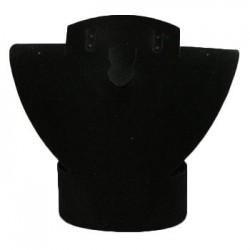 Buste parure repliable en velours noir 17 cm - 1024