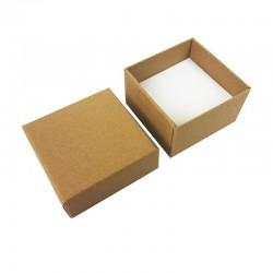 24 petits écrins pour bagues de couleur kraft brun naturel - 10153