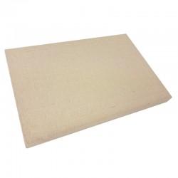 Présentoir plateau à bagues 3 positions en coton beige naturel - 9555