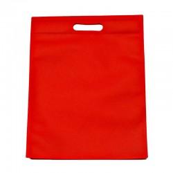 12 sacs non-tissés couleur rouge uni 25x33cm - 9597