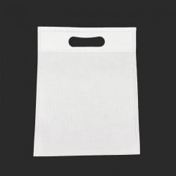 Lot de 12 sacs intissés de couleur blanche 35x44cm - 9599