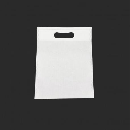 12 petits sacs non-tissés blancs 19x24cm - 9602