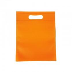 12 sacs non-tissés oranges 19x24cm - 9604