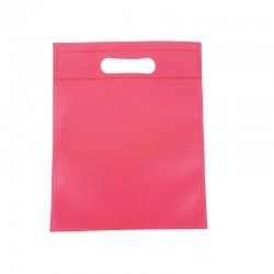 12 sacs non-tissés rose foncé 19x24cm - 9605