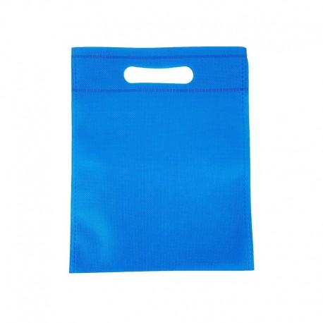 12 petits sacs non-tissés bleu électrique 19x24cm - 9606