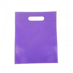 12 petits sacs non-tissés violets 19x24cm - 9607