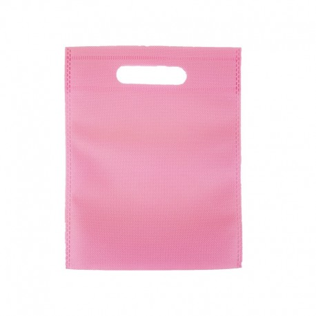 12 petits sacs non-tissés rose clair 19x24cm - 9609