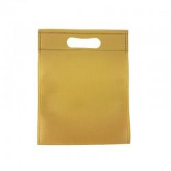 12 petits sacs non-tissés beige foncé 19x24cm - 9610