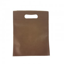 12 petits sacs non-tissés marron chocolat 19x24cm - 9611