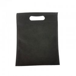 12 petits sacs non-tissés noirs 19x24cm - 9612