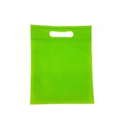 12 minis sacs non-tissés vert pomme 14x20cm - 9615