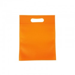 12 minis sacs non-tissés oranges 14x20cm - 9616
