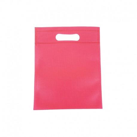 12 minis sacs non-tissés rose foncé 14x20cm - 9617