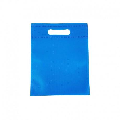 12 minis sacs non-tissés bleu électrique 14x20cm - 9618
