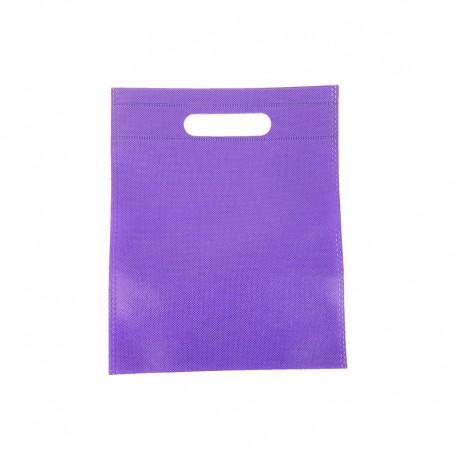 12 minis sacs non-tissés mauves 14x20cm - 9619