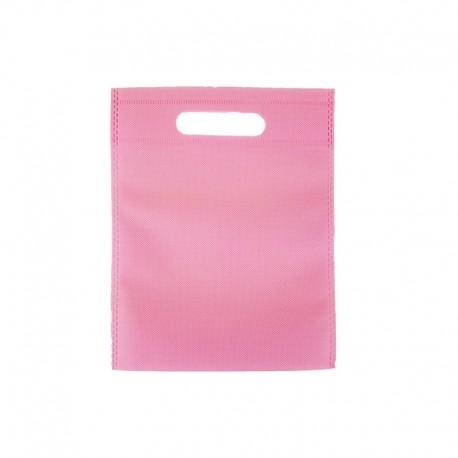 12 minis sacs non-tissés rose clair 14x20cm - 9621