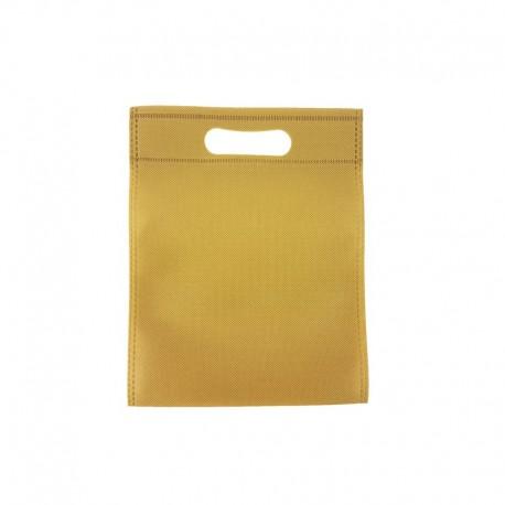12 minis sacs non-tissés beige 14x20cm - 9622