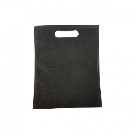 12 minis sacs non-tissés noirs 14x20cm - 9624