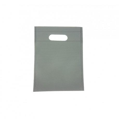 12 minis sacs non-tissés gris 14x20cm - 9625