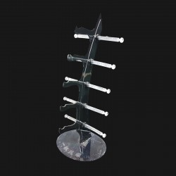 Petit présentoir à lunettes en acrylique noir - 1815