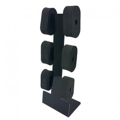 Présentoir en acrylique noir pour 6 montres - 9671