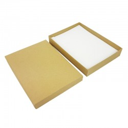 Lot 6 grands écrins kraft naturel pour parures 17x14x2.8cm - 10162