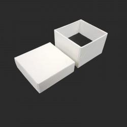 Lot de 120 petits écrins pour bagues de couleur blanc nacré - 10169x5