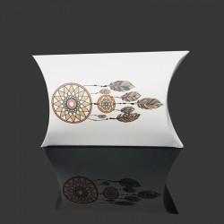 Lot de 10 minis berlingots motifs attrape rêves sur fond blanc 5.5x8x2cm - 9726