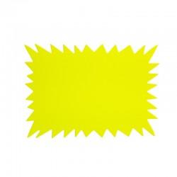 20 étiquettes affichage éclatés jaune fluo - 5713