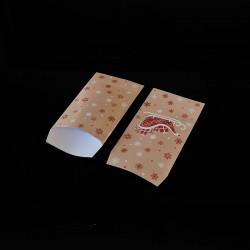 100 petits sachets cadeaux papier 6x10cm motif traineau de Noël - 8132