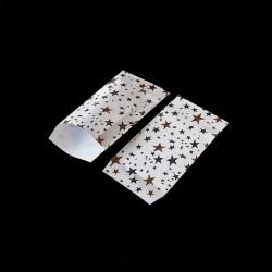 100 petits sachets cadeaux papier 6x10cm motif étoiles - 8136