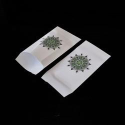 Lot de 100 sachets cadeaux blancs motif mandala 11x17cm - 8153