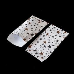 Lot de 50 pochettes cadeaux blanches 16x24cm à motif étoiles - 8160