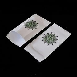 Lot de 50 pochettes cadeaux blanches 16x24cm à motif mandala - 8161