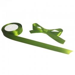 Bobine de ruban satiné en tissu de couleur vert olive - 9733